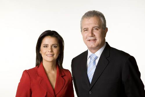 Adriana Arapujo e Celso Freitas: A jornalista ficou magoada com a emissora das Barra Funda