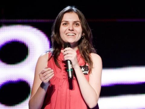 A atriz venceu o concurso e é a mais nova integrante da atração