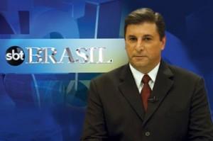 """O âncora do """"SBT Brasil"""", Carlos Nascimento (Foto: Reprodução)"""